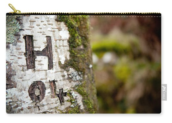 Tree Bark Graffiti - H 04 Carry-all Pouch