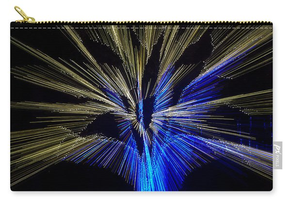 Tree Burst Of Blue And Yellow Carry-all Pouch