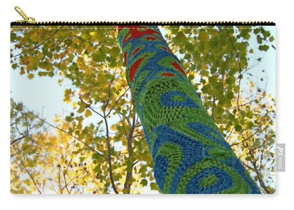 Tree Crochet Carry-all Pouch
