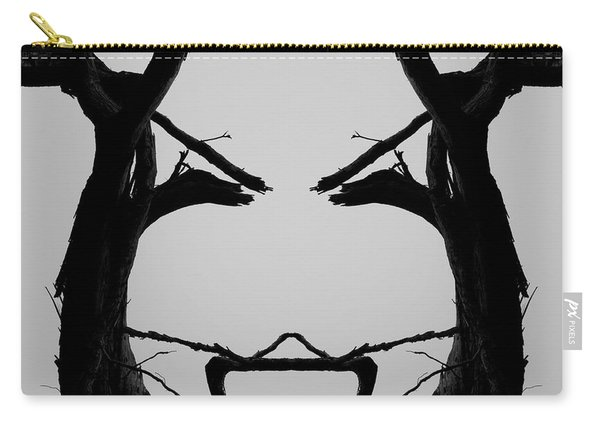 Tree Face I Bw Sq Carry-all Pouch