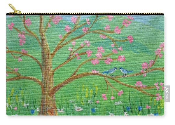 Carry-all Pouch featuring the painting Tree For Two by Nancy Nale