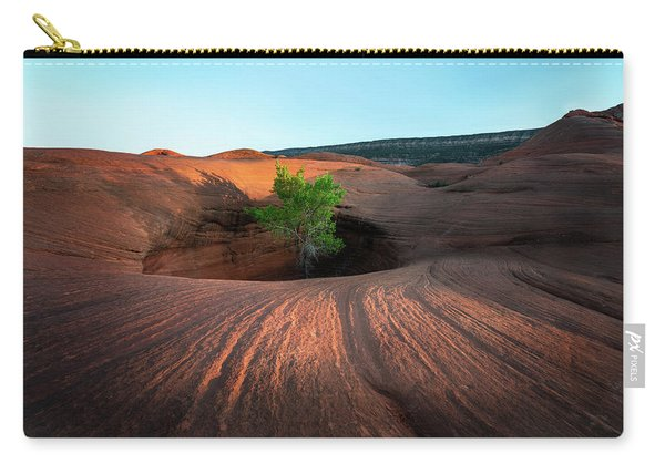 Tree In Desert Pothole Carry-all Pouch