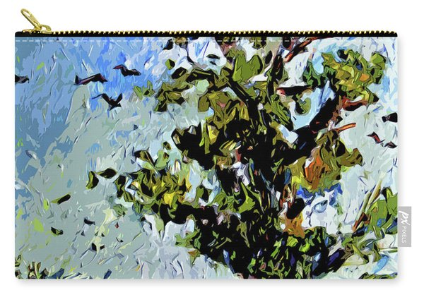 Tree In Summer Sun Mixed Media Carry-all Pouch