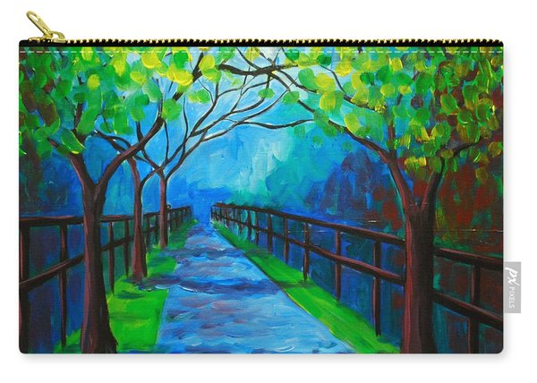 Tree Lined Fence Carry-all Pouch