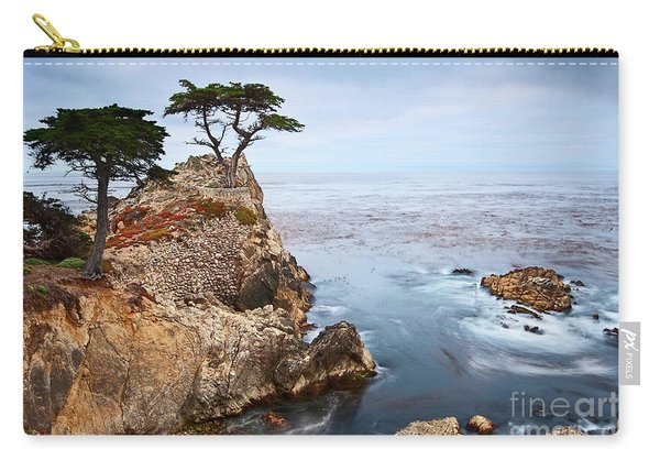 Tree Of Dreams - Lone Cypress Tree At Pebble Beach In Monterey California Carry-all Pouch