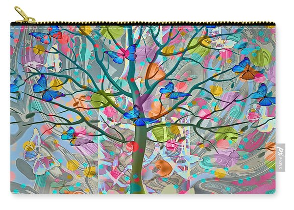Carry-all Pouch featuring the digital art Tree Of Life by Eleni Mac Synodinos