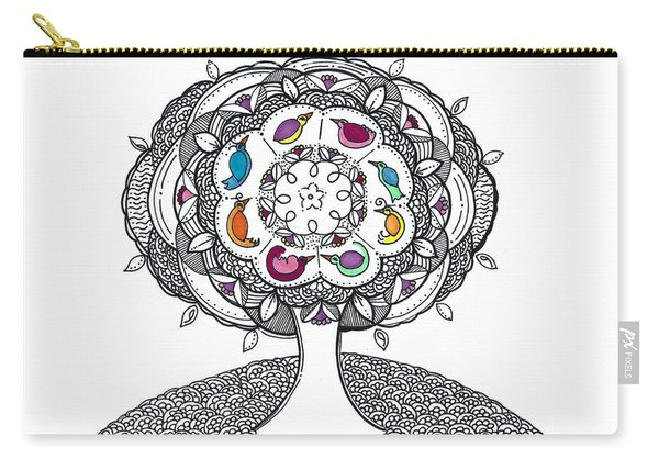 Tree Of Life - Ink Drawing Carry-all Pouch