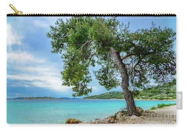 Tree On Northern Dalmatian Coast Beach, Croatia Carry-all Pouch