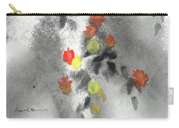 Tree Shadows And Fall Leaves Carry-all Pouch