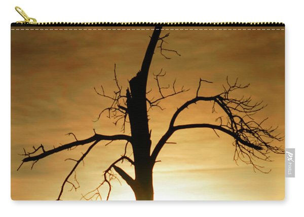 Tree Silhouette At Sundown Carry-all Pouch