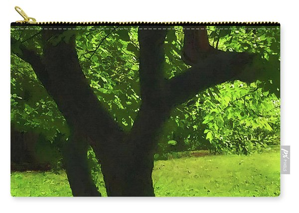 Tree Trunk Green Carry-all Pouch