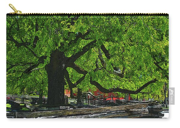 Tree With Colonial Fence Carry-all Pouch