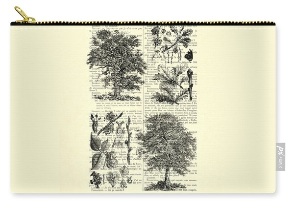 Trees Black And White Illustration Carry-all Pouch