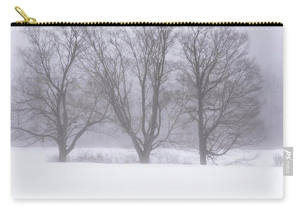 Carry-all Pouch featuring the photograph Trees In Fog by Tom Singleton