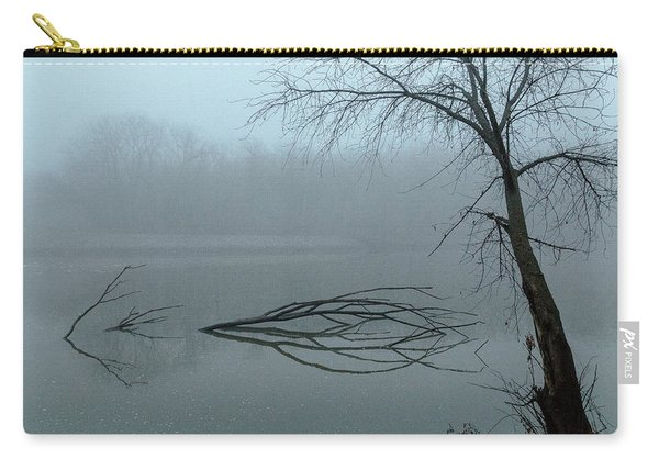 Trees In The Fog On The River Carry-all Pouch