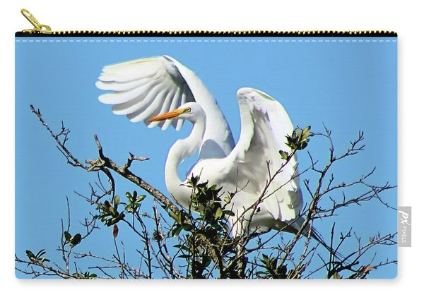 Treetop Egret Carry-all Pouch