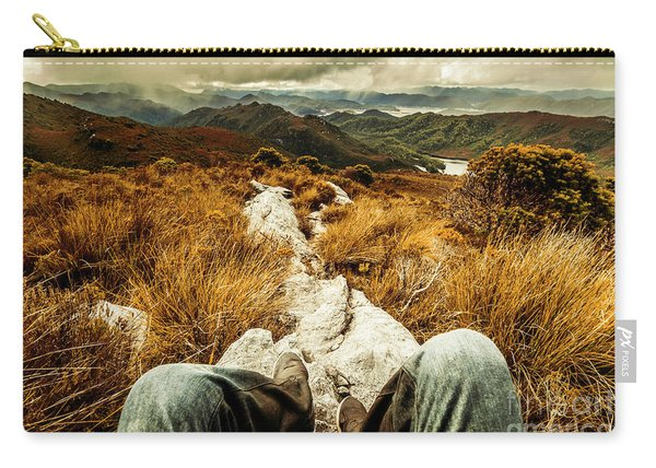Trekking Tasmanian Mountains Carry-all Pouch