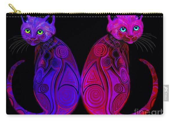 Tribal Cats Carry-all Pouch