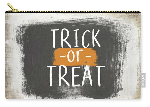 Trick Or Treat Sign- Art By Linda Woods Carry-all Pouch