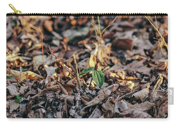 Trillium Blooming In Leaves On Forrest Floor Carry-all Pouch