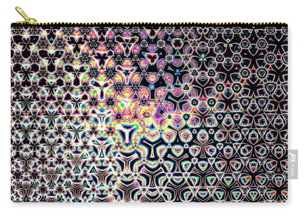 Carry-all Pouch featuring the digital art Trimandalam 1 by Robert Thalmeier