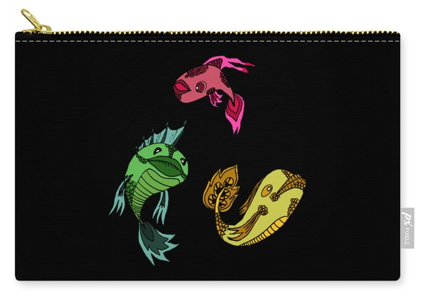Trio Fish Carry-all Pouch