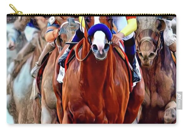 Triple Crown Winner Justify Carry-all Pouch