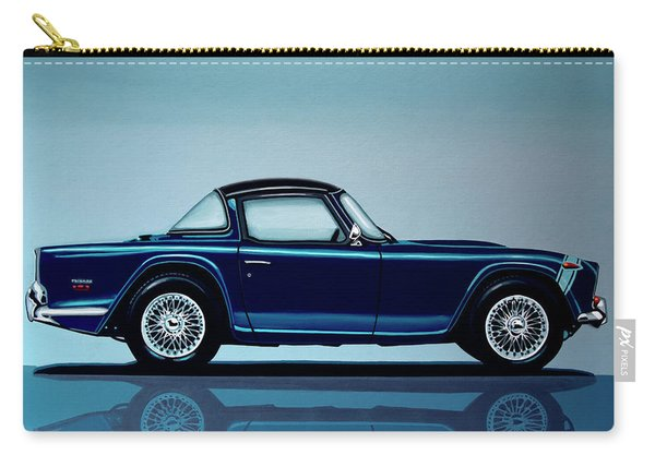 Triumph Tr5 1968 Painting Carry-all Pouch