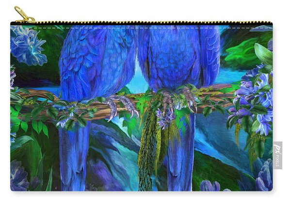 Tropic Spirits - Hyacinth Macaws Carry-all Pouch
