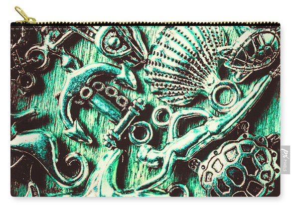 Tropical Bay Elements Carry-all Pouch