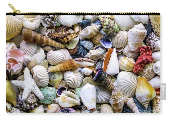 Tropical Beach Seashell Treasures 1500a Carry-all Pouch