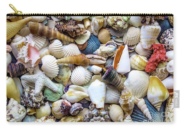 Tropical Beach Seashell Treasures 1529b Carry-all Pouch