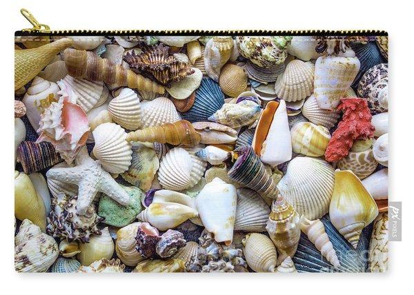 Tropical Beach Seashell Treasures 1529b Carry-all Pouch