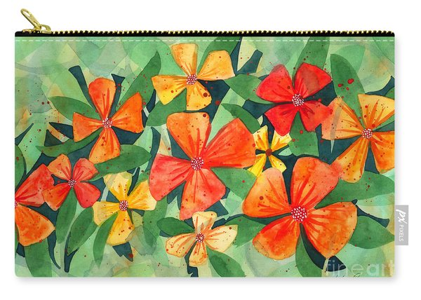 Tropical Flower Splash Carry-all Pouch