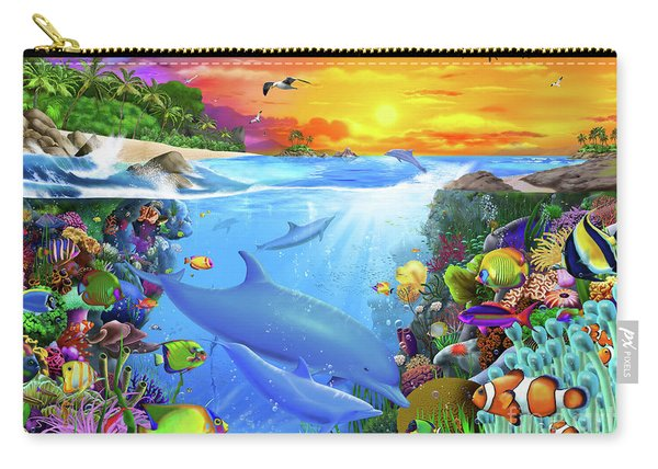 Tropical Island Bay Carry-all Pouch