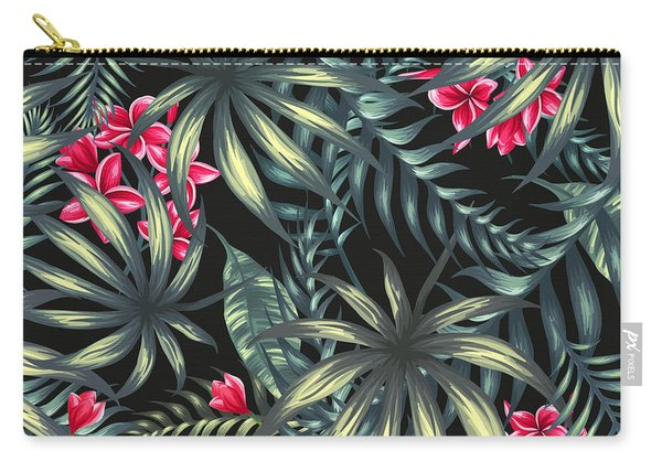 Tropical Leaf Pattern  Carry-all Pouch