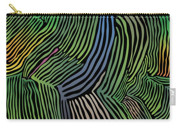 Tropical Striations Carry-all Pouch