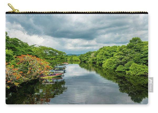Cloudy Skies Over The River Carry-all Pouch
