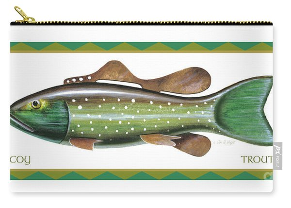Trout Ice Fishing Decoy Carry-all Pouch