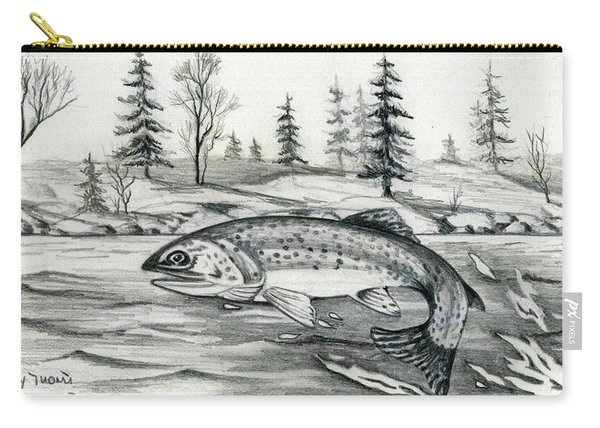 Trout Jumping Carry-all Pouch