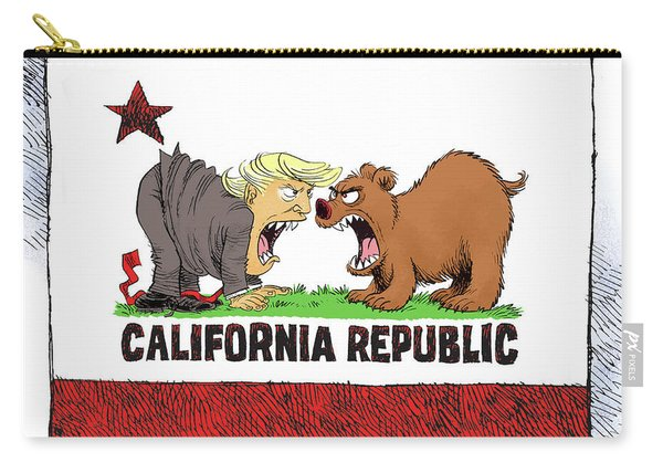 Trump And California Face Off Carry-all Pouch