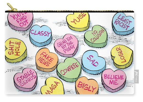 Trump Valentines Candy Uncensored Carry-all Pouch