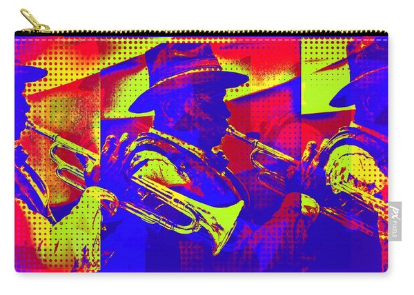 Trumpet Player Pop-art Carry-all Pouch
