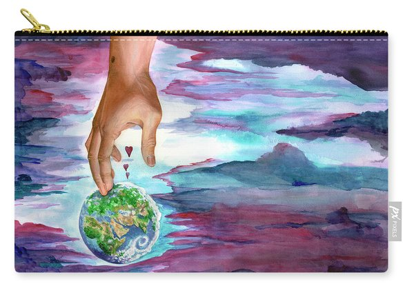Carry-all Pouch featuring the painting Trust Me by Nancy Cupp