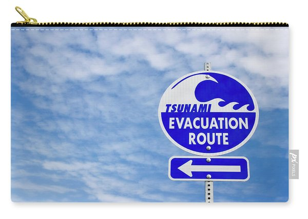 Tsunami Evacuation Route Sign Carry-all Pouch