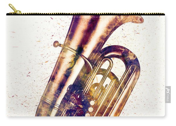 Tuba Abstract Watercolor Carry-all Pouch