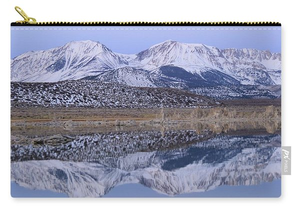 Carry-all Pouch featuring the photograph Tufa Dawn Winter Dreamscape by Sean Sarsfield