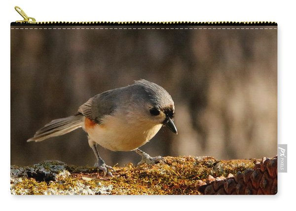 Tufted Titmouse In Fall Carry-all Pouch