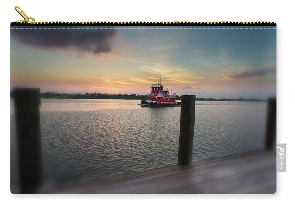 Tug Boat Sunset Carry-all Pouch