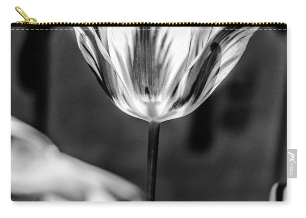 Tulip In B And W Carry-all Pouch